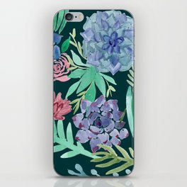 Watercolor Succulent Collage iPhone Skin