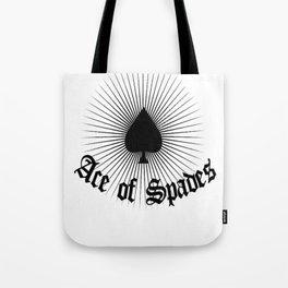 Ace of spades,light burst art, custom gift design Tote Bag