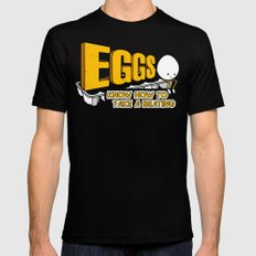Eggs! Mens Fitted Tee LARGE Black