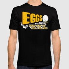 Eggs! Mens Fitted Tee MEDIUM Black