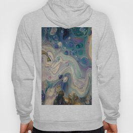 Look At The Night Sky - Abstract Acrylic Art by Fluid Nature Hoody