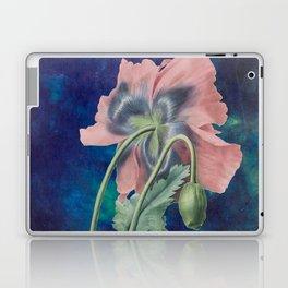 French Poppy - Vintage Botanical Illustration Collage Laptop & iPad Skin