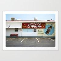 coca cola Art Prints featuring Coca Cola by Jon Cain