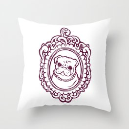 Pug Princess Throw Pillow