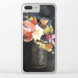 Moody Floral #2 Clear iPhone Case