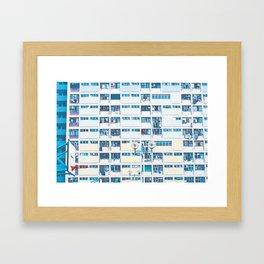 rainbow house (彩虹邨)7 Framed Art Print