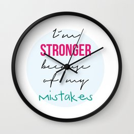 I´m stronger Wall Clock