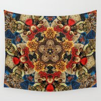 doberman Wall Tapestries featuring ornament by Кaterina Кalinich