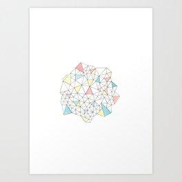 Triangles N1 Art Print