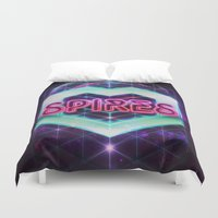 spires Duvet Covers featuring Spires 80's Neon  by Spires