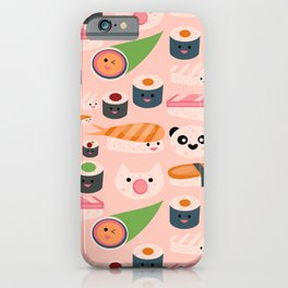 Kawaii sushi light pink iPhone Case