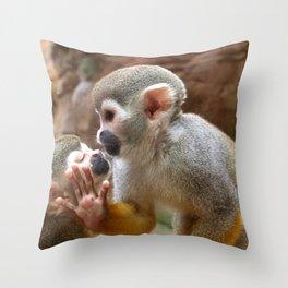 Monkey Love and Attitude  Throw Pillow