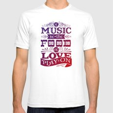 Food of Love  SMALL White Mens Fitted Tee