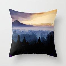 Borobudur temple Indonesia Throw Pillow