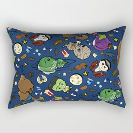Baby Monster Mash-Blue Rectangular Pillow