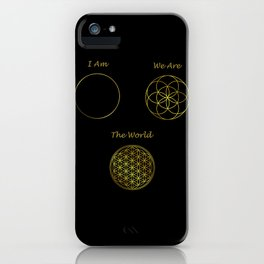 Sacred Geometry The World iPhone Case
