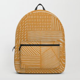 Mud Cloth / Yellow Backpack