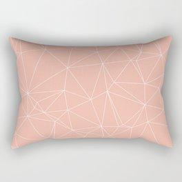Millennial Pink Geometric Minimalist Pattern Rectangular Pillow