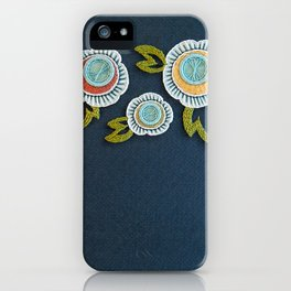 Floral Embroidery by SeptemberHouse iPhone Case