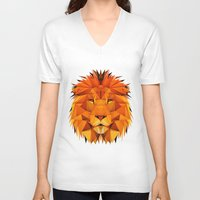 courage V-neck T-shirts featuring Courage by jenkydesign