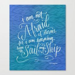 Sail My Ship Canvas Print