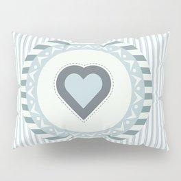 Blue heart Pillow Sham