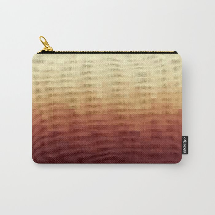 Gradient Pixel Red Carry-All Pouch