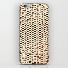 Pattern of brushed copper cylinders iPhone Skin