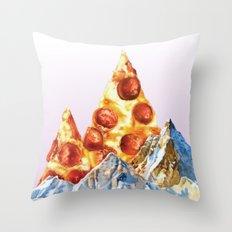 Pepperoni Pizza Peaks Throw Pillow