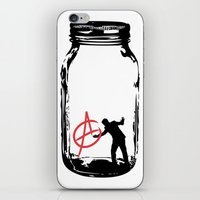 sons of anarchy iPhone & iPod Skins featuring Anarchy  by jamieskinner