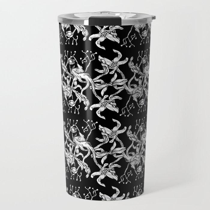 Pattern: Dark Floral II Travel Mug