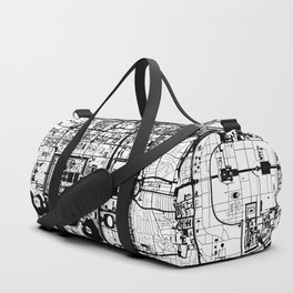 Beijing city map black and white Duffle Bag