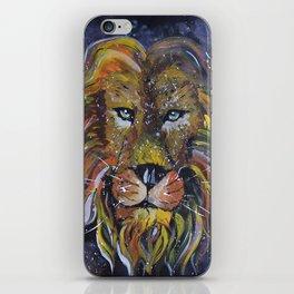 Lion painting, Lion wallart iPhone Skin