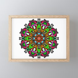 Festive Mandala Eye Candy Framed Mini Art Print