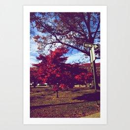 Fall My Way | Red Art Print