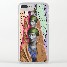 Afro1 Clear iPhone Case