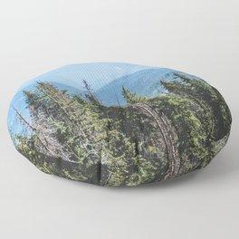 Rocky Mountain Adventure - Colorado Nature Photography Floor Pillow