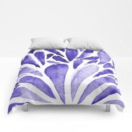 Watercolor artistic drops - electric blue Comforters