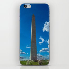 Washington Monument with Cherry Blossom Trees iPhone Skin