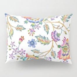 floral pattern white Pillow Sham