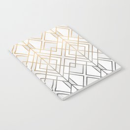 Gold And Grey Geo Notebook