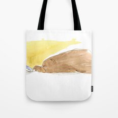 Bear is tired of fish Tote Bag