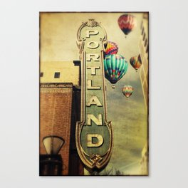 Whimsical Portland Oregon (Hot Air Balloon Ride) Canvas Print