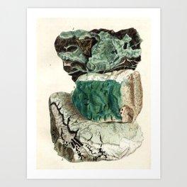 Vintage Mineralogy Illustration Art Print