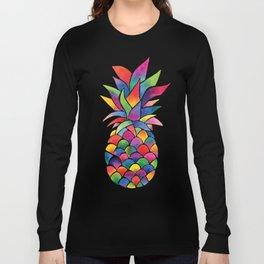 Watercolour Pineapple Long Sleeve T-shirt