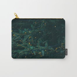 Evergreen and Golden Lights (Color) Carry-All Pouch