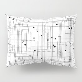 Black and white geometric abstract pattern Pillow Sham