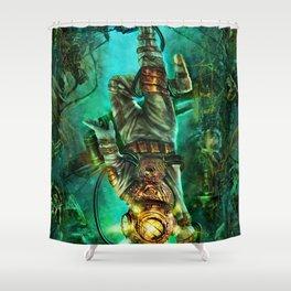 Steampunk Diver Shower Curtain