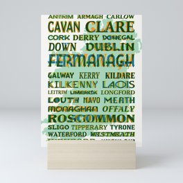 32 Counties Of Ireland Mini Art Print