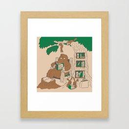 Reading with Sasquatch Framed Art Print
